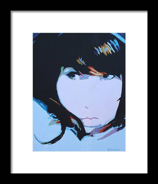 Portrait Framed Print featuring the painting Sublime by Ricklene Wren