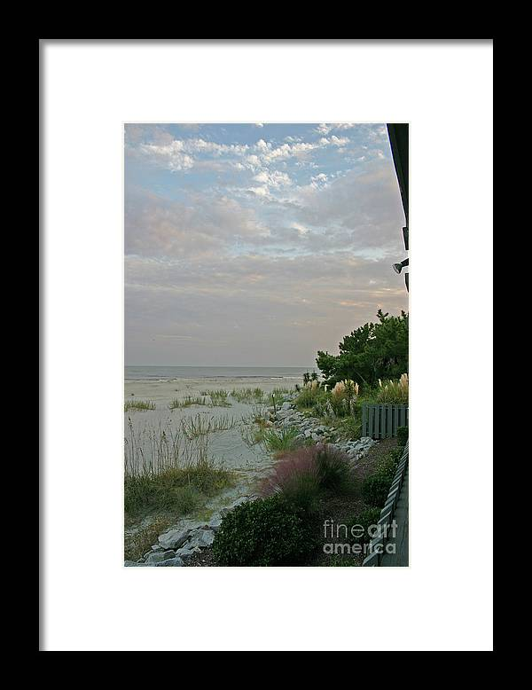 Sunset Framed Print featuring the photograph Subtle Colors at Sunset by Beebe Barksdale-Bruner