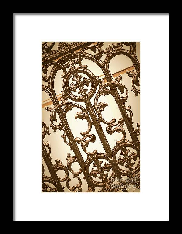 Southern Charm Framed Print featuring the digital art Subtle Southern Charm In Sepia by Carol Groenen
