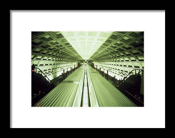 Train Framed Print featuring the photograph Subway by Wes Shinn