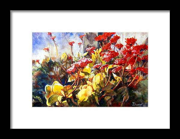 Flower Painting Framed Print featuring the painting Succulents by Bob Duncan