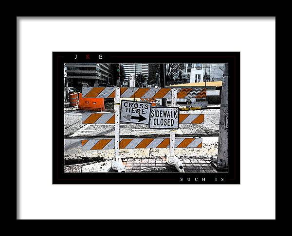 Atlanta Framed Print featuring the photograph Such Is by Jonathan Ellis Keys
