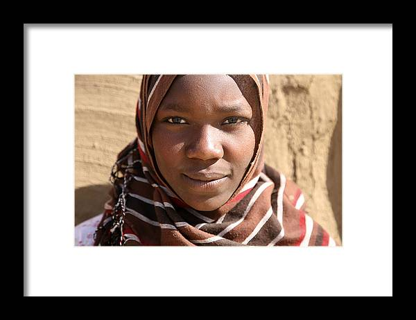 Sudan Framed Print featuring the photograph Sudanese girl by Marcus Best