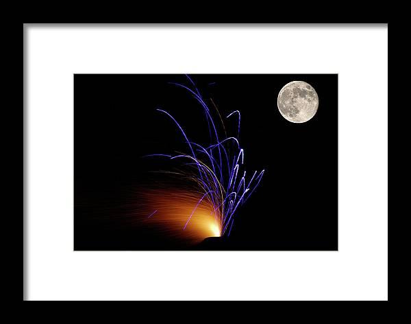 Moon Framed Print featuring the photograph Sudden Synchrony by Glenn Kory