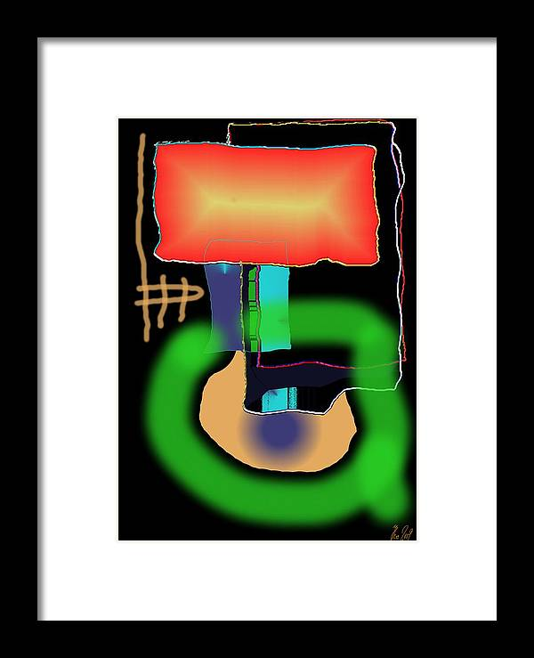 Mouse Framed Print featuring the digital art Suddenclicks by Helmut Rottler