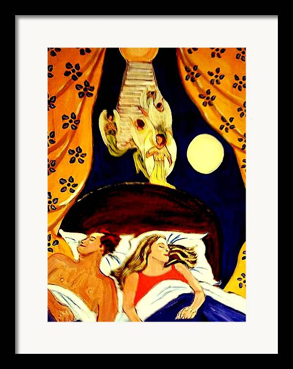 Dreams Framed Print featuring the painting Suenos by Rusty Woodward Gladdish