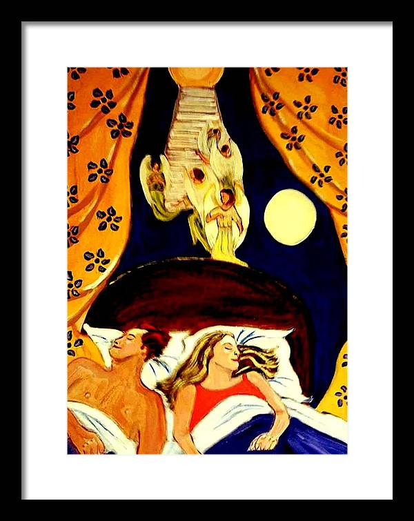 Dreams Framed Print featuring the painting Suenos by Rusty Gladdish
