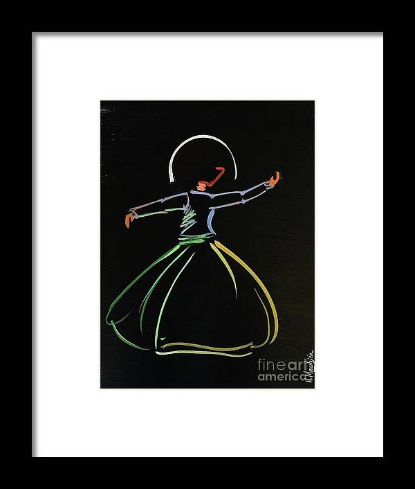 Islamic Art Framed Print featuring the painting Sufi by Nizar MacNojia