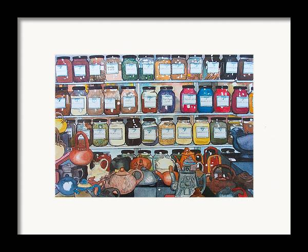 Spice Framed Print featuring the painting Sugar And Spice by Victoria Heryet