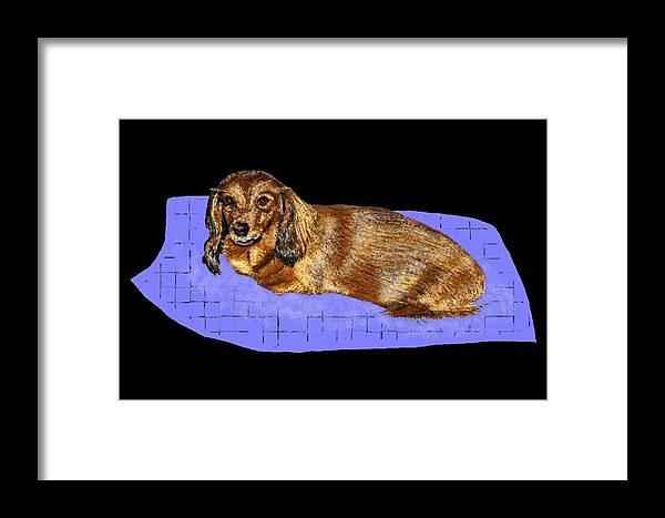 Dogs Framed Print featuring the digital art Sugar by Carole Boyd
