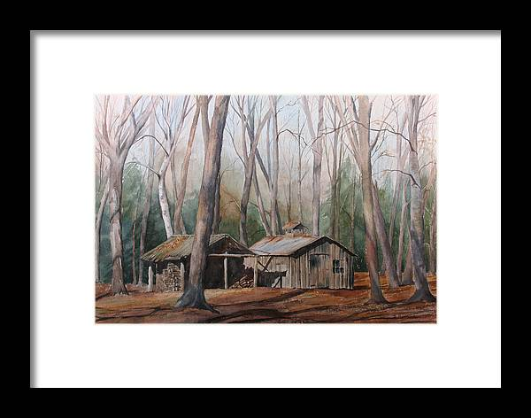 Sugar Shack Framed Print featuring the painting Sugar Shack by Debbie Homewood