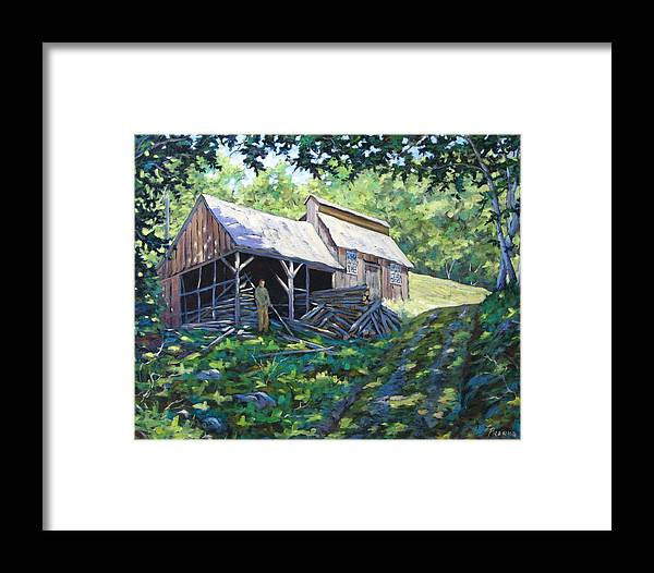 Sugar Shack Framed Print featuring the painting Sugar Shack In July by Richard T Pranke