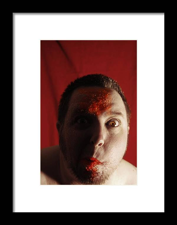Haloween Candy Sugar Colored Sugar Fun Silly Red Orange Gold Eye Eyes Framed Print featuring the photograph Sugar Sugar by Sean-Michael Gettys