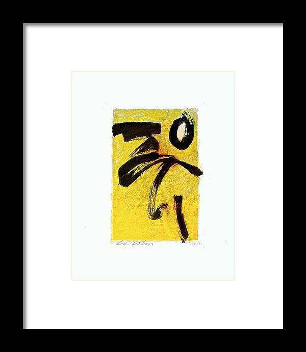 Abstract Framed Print featuring the painting Sulfur Bath --start- by Cliff Spohn
