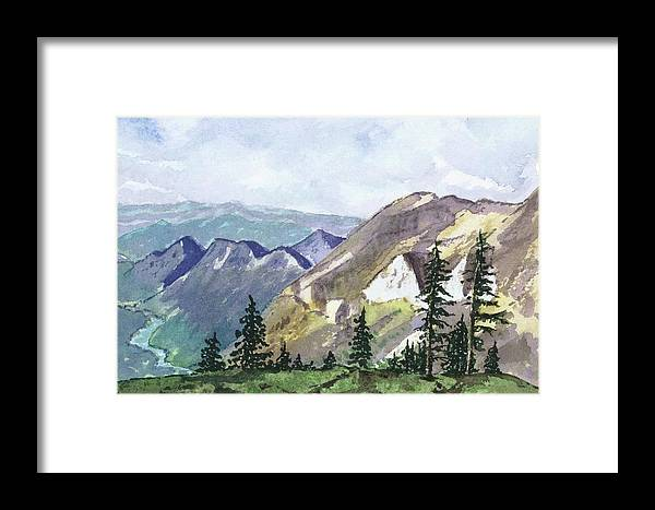Mountains Framed Print featuring the painting Sulphur Ridge by Johanna Wray