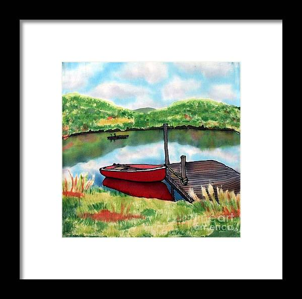 Summer Framed Print featuring the painting Sumer Reflections by Linda Marcille