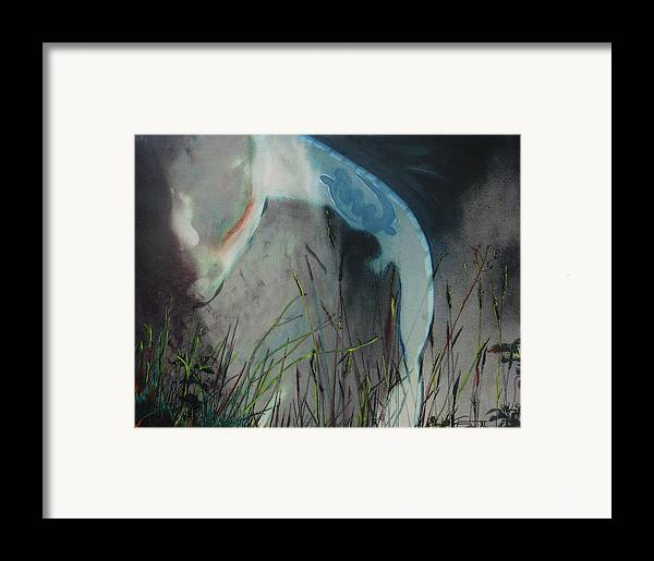 Landscape Framed Print featuring the mixed media Summation Of One by Xavier Carter