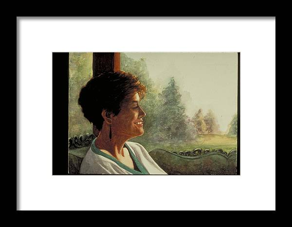 Watercolor Framed Print featuring the painting Summer Afternoon by Nancy Ethiel