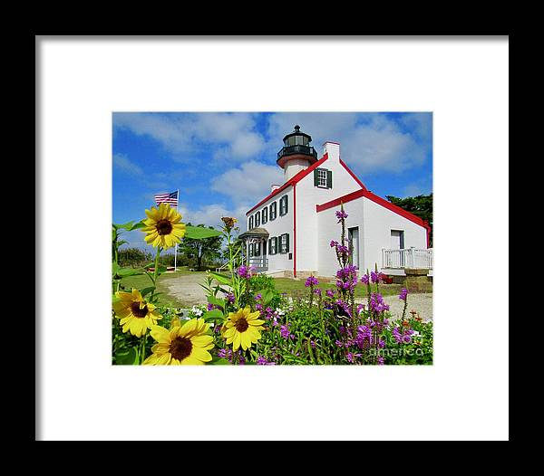 East Point Lighthouse Framed Print featuring the photograph Summer At East Point Light by Nancy Patterson