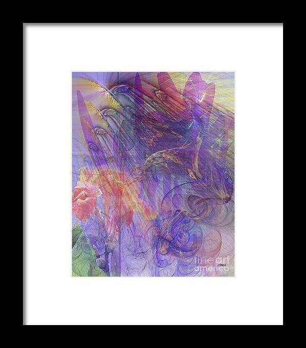 Summer Awakes Framed Print featuring the digital art Summer Awakes by John Beck