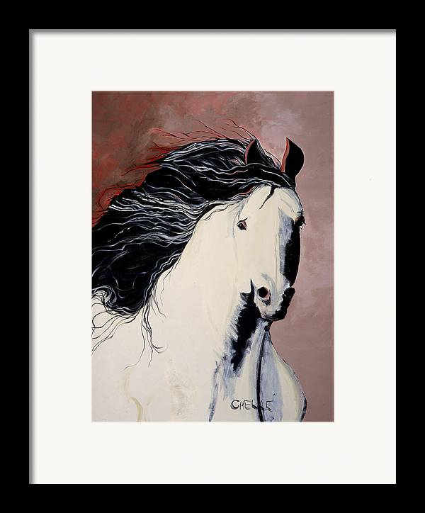 Horse Framed Print featuring the painting Summer Breezes by Chelle Fazal