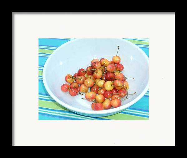 Cherries Framed Print featuring the photograph Summer Cherries by Nancy Ferrier