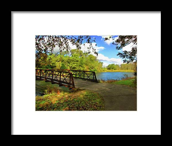 Cedric Hampton Framed Print featuring the photograph Summer Crossing by Cedric Hampton