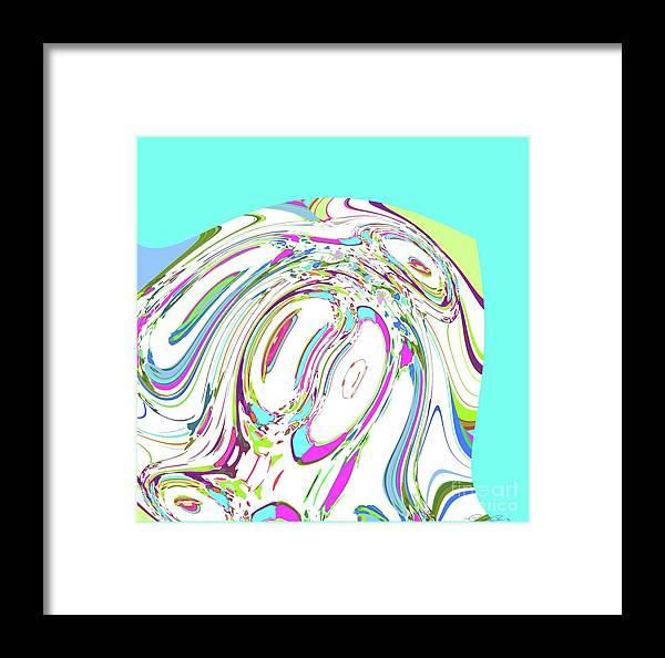 Abstract Framed Print featuring the digital art Summer Day by Elisabeth Skajem Atter