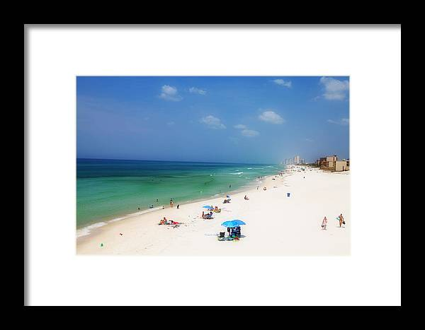 Beach Framed Print featuring the photograph Summer Day In Florida by Toni Hopper
