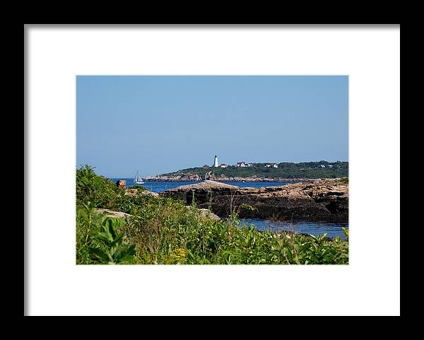 Sea Scape Framed Print featuring the photograph Summer Day by Lisa Kane