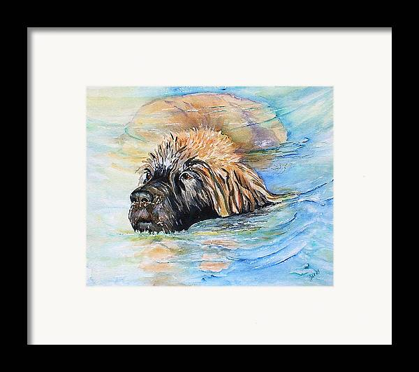 Canine Framed Print featuring the painting Summer Daze by Gina Hall