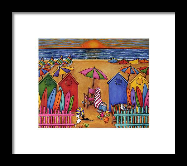 Summer Framed Print featuring the painting Summer Delight by Lisa Lorenz