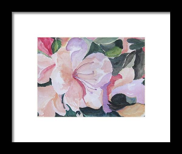Flower Framed Print featuring the painting Summer Delight by Trilby Cole