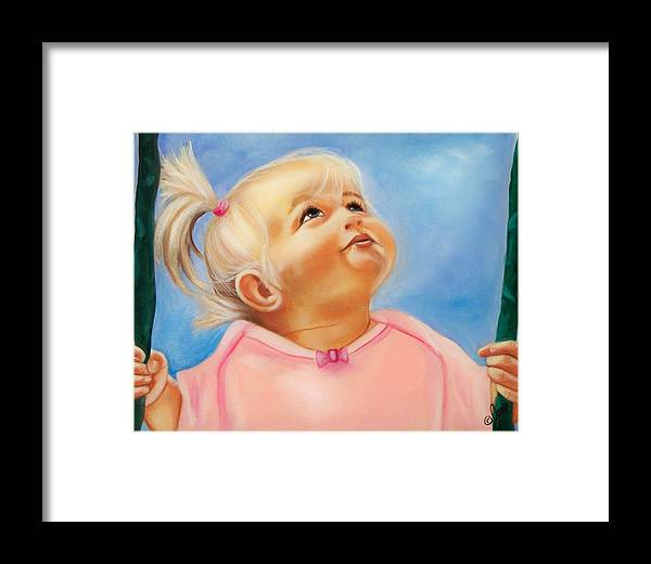 Portrait Framed Print featuring the painting Summer Dreams by Joni McPherson