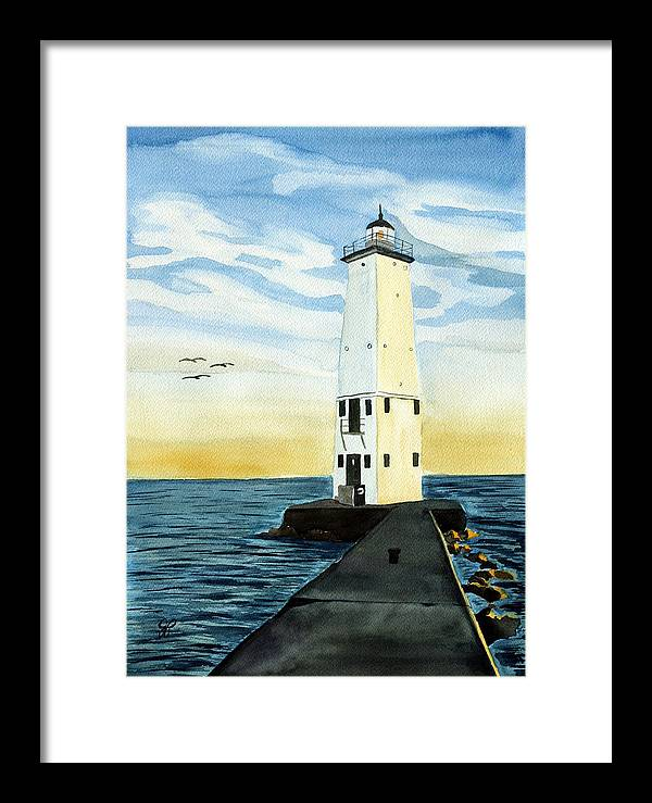 Landscape Framed Print featuring the painting Summer Evening by Julie Pflanzer
