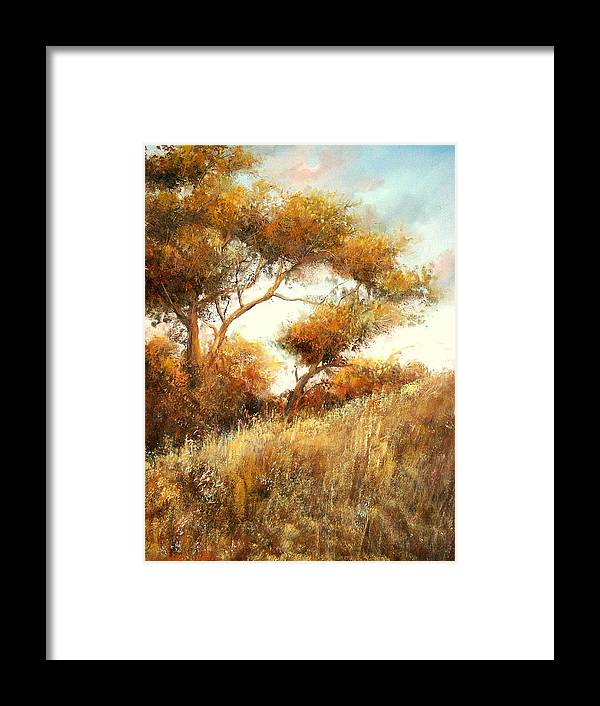 Summer Framed Print featuring the painting Summer Fields by Sally Seago