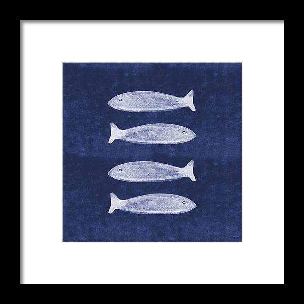 Blue Framed Print featuring the mixed media Summer Fish- Art By Linda Woods by Linda Woods