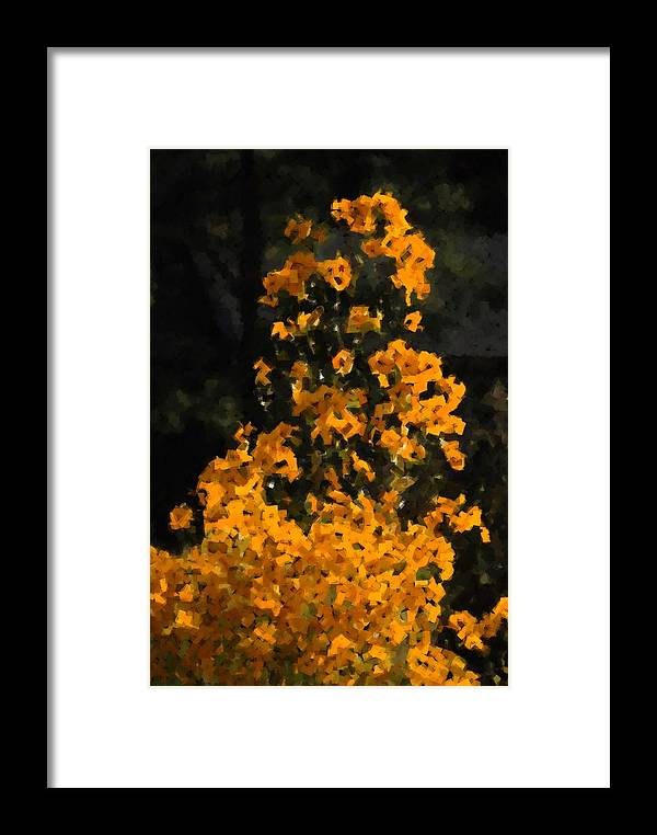 Yellow Framed Print featuring the photograph Summer Flowers by Ed Zirkle