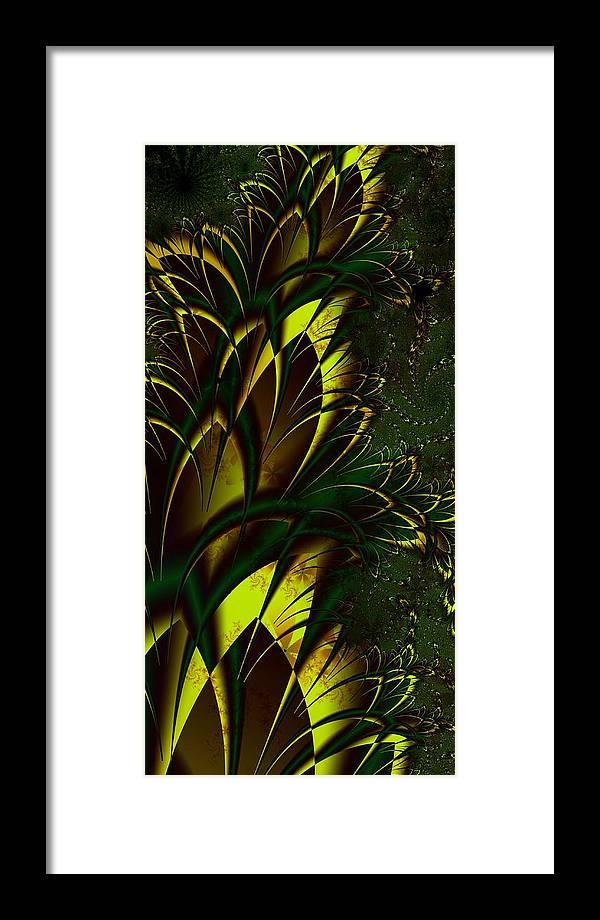 Digital Art Framed Print featuring the digital art Summer Frenzy by Amanda Moore
