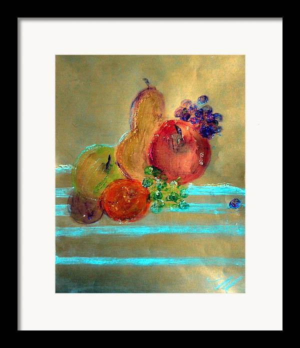 Fruit Framed Print featuring the painting Summer Fruit by Michela Akers