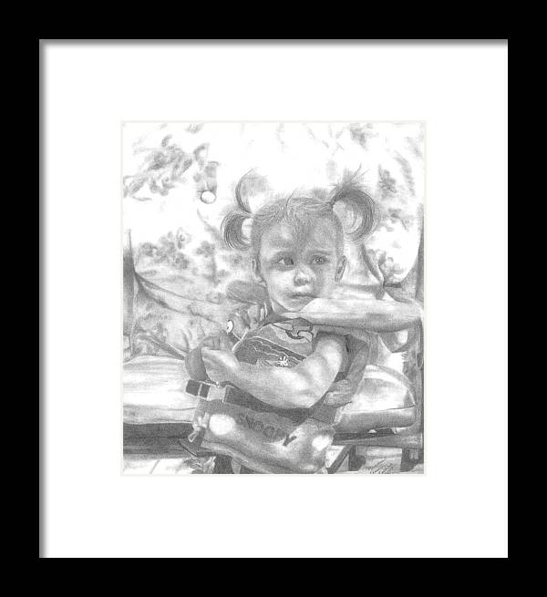 Graphite Framed Print featuring the drawing Summer Fun by Rhonda Rodericks