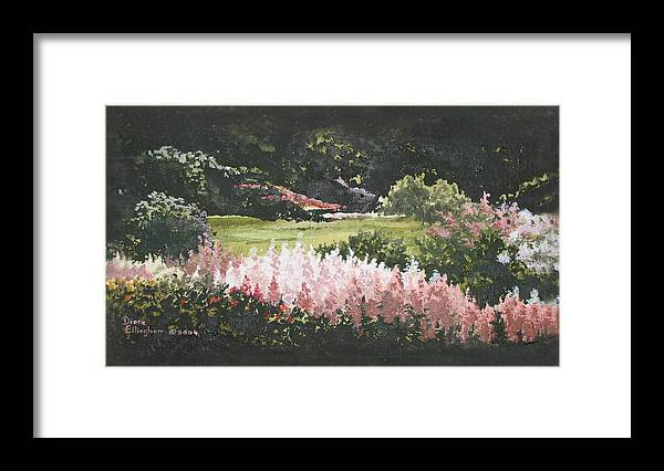 Nature Framed Print featuring the painting Summer Garden by Diane Ellingham