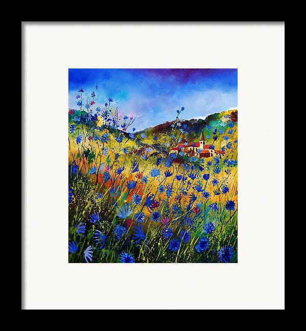 Flowers Framed Print featuring the painting Summer Glory by Pol Ledent