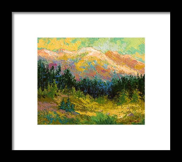 Alaska Framed Print featuring the painting Summer High Country by Marion Rose