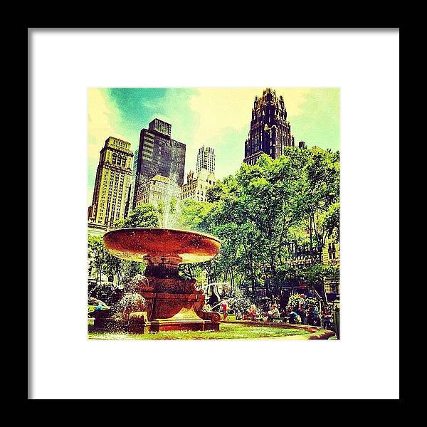Nyc Framed Print featuring the photograph Summer in Bryant Park by Luke Kingma