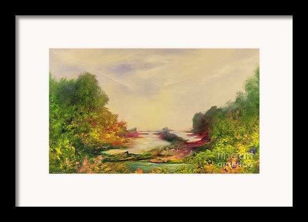 Valley Framed Print featuring the painting Summer Joy by Hannibal Mane