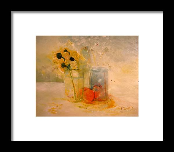 Daisey Framed Print featuring the painting Summer Light by Jack Diamond