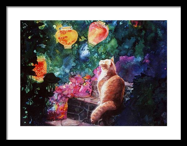 Kitty Framed Print featuring the painting Summer Magic by Valerie Aune
