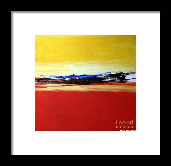 Abstract Framed Print featuring the painting Summer by Mario Zampedroni