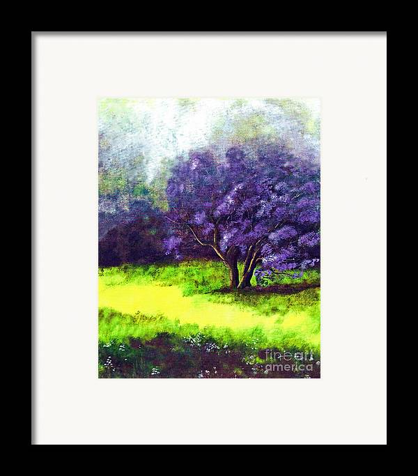 Fine Art Print Framed Print featuring the painting Summer Mist by Patricia Griffin Brett